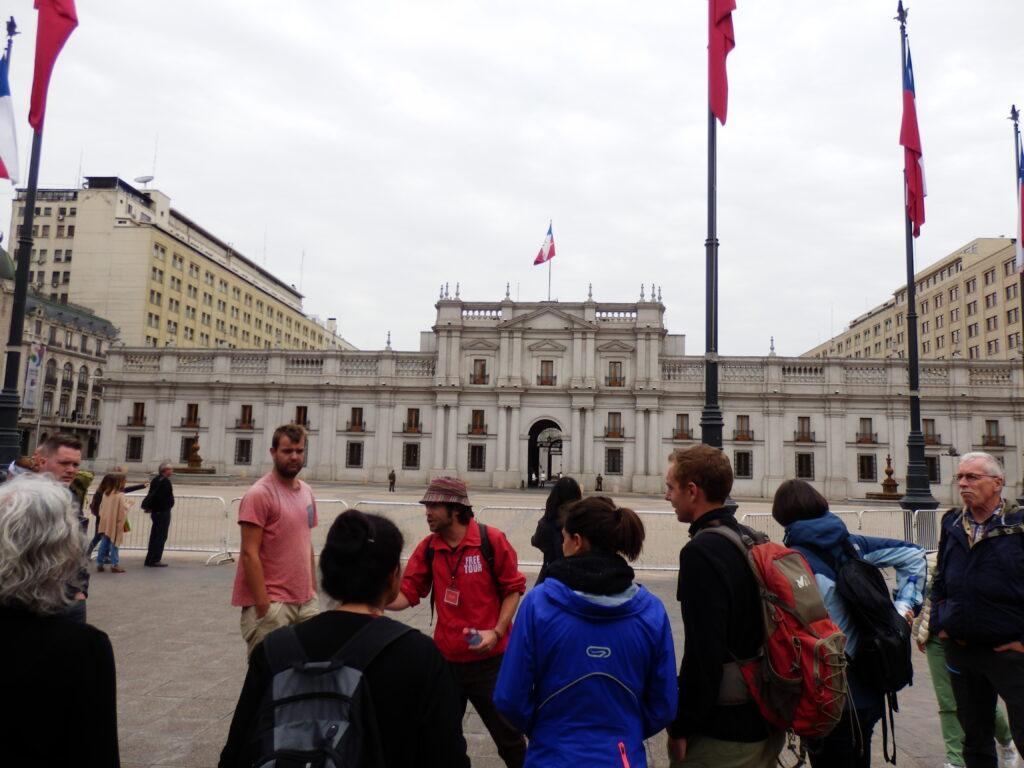 Palacio de moneda in Santiago