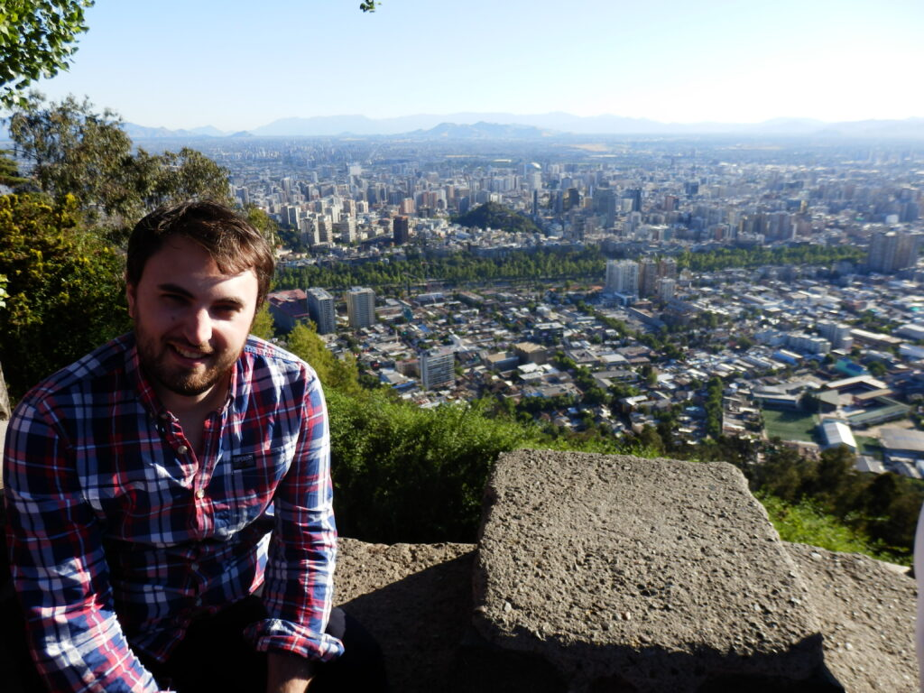 Santiago, Chile, as seen from San Cristobal