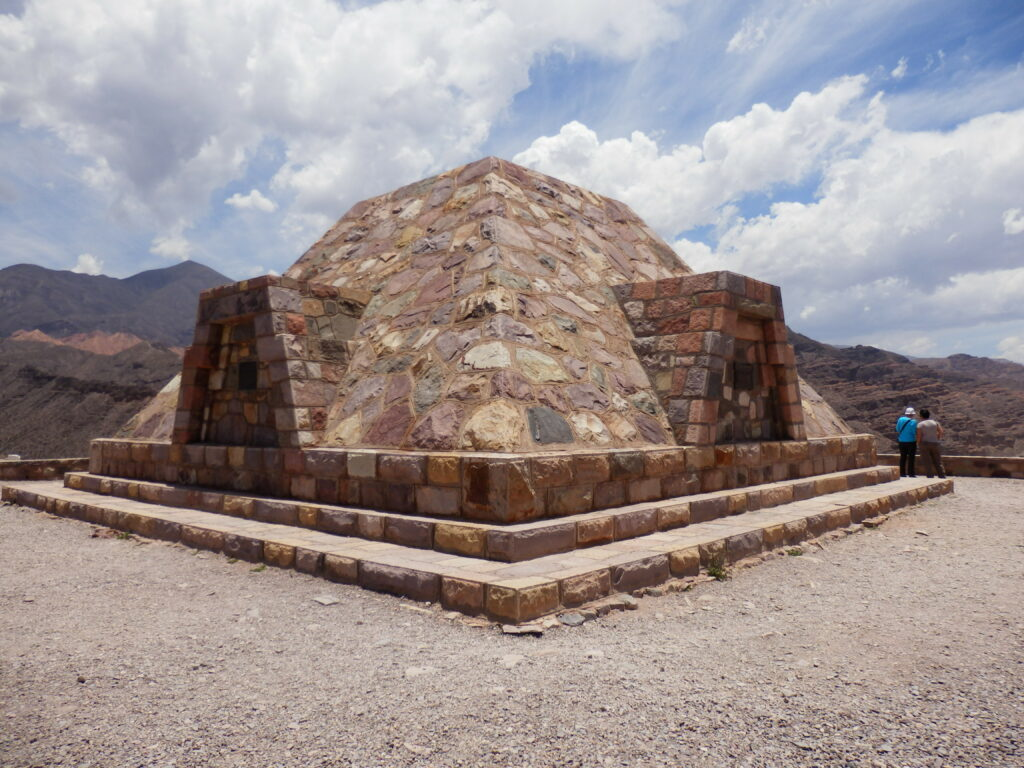 Modern monument at site of Pre-Incan ruins in Tilcara